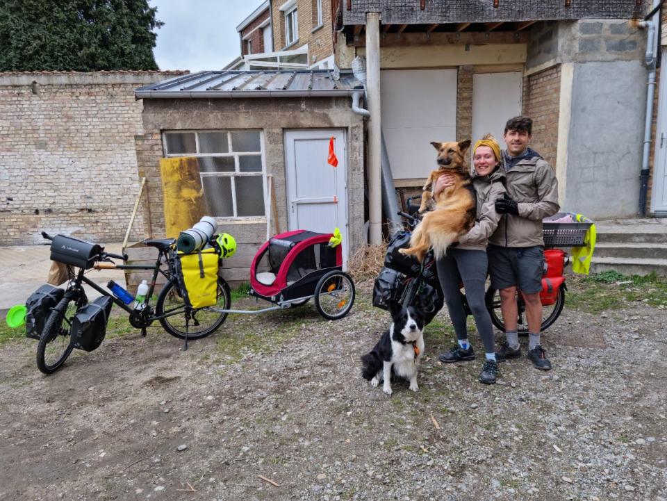 велотуристи з Франції